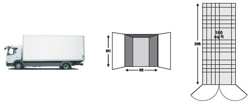Full size self storage unit
