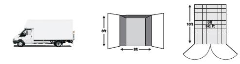 Half size self storage unit